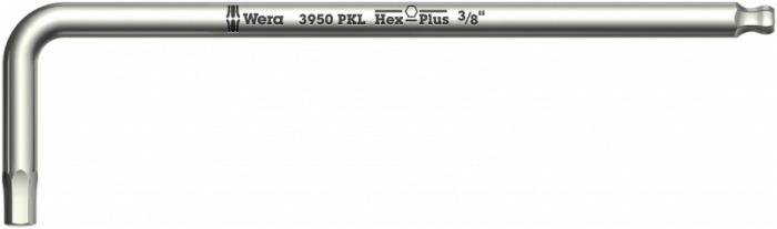 Шестигранный ключ WERA 3950 PKL, дюймовый, нержавеющая сталь, Hex-Plus, 9/64 дюйм WE-022713 купить в интернет-магазине Wera Store - Шестигранные ключи