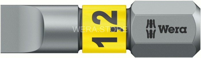 Бита шлицевая WERA 800/1 BTZ BiTorsion, 1.2 x 6.5 x 25 mm WE-056068