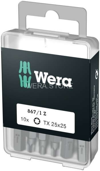 Набор бит WERA 867/1 DIY TORX, TX 25 x 25 mm (10 шт.) WE-072409