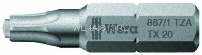 Бита TORX с цапфой WERA 867/1 ZA, TX 30 x 25 mm WE-066084